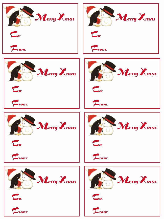 Free Printable Gift Tags Personalized New Christmas T Tags Printable