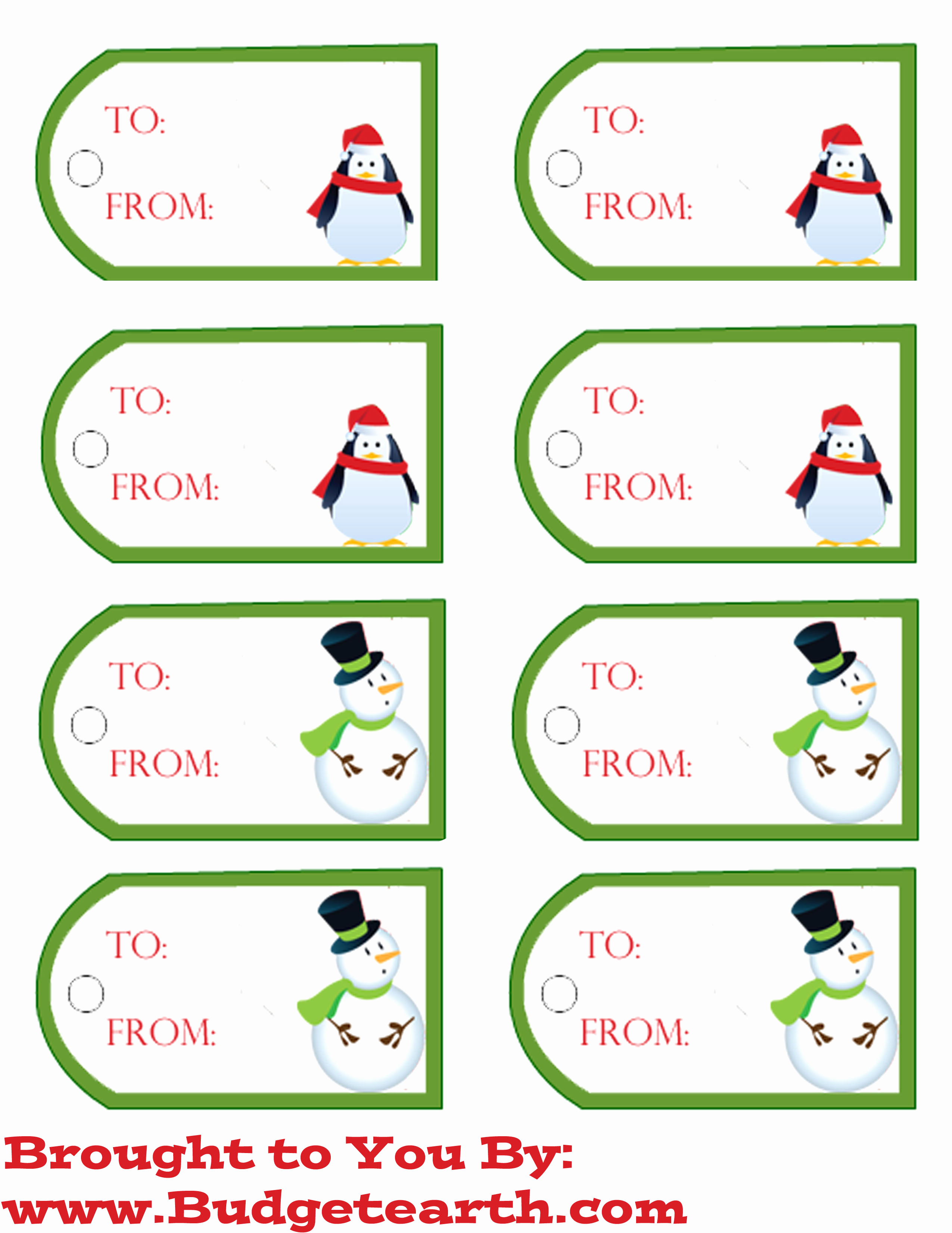 Free Printable Gift Tags Personalized New Free Printable Christmas Gift Tags