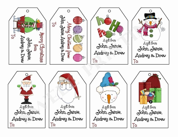 Free Printable Gift Tags Personalized Unique Printable Personalized Christmas Iii T Tag Set Santa