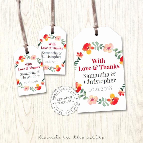 Free Printable Gift Tags Personalized Unique Wedding Favors Custom Tags Custom Product Labels Wedding