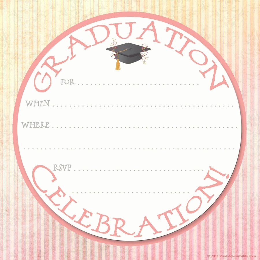 Free Printable Graduation Announcements Beautiful 40 Free Graduation Invitation Templates Template Lab