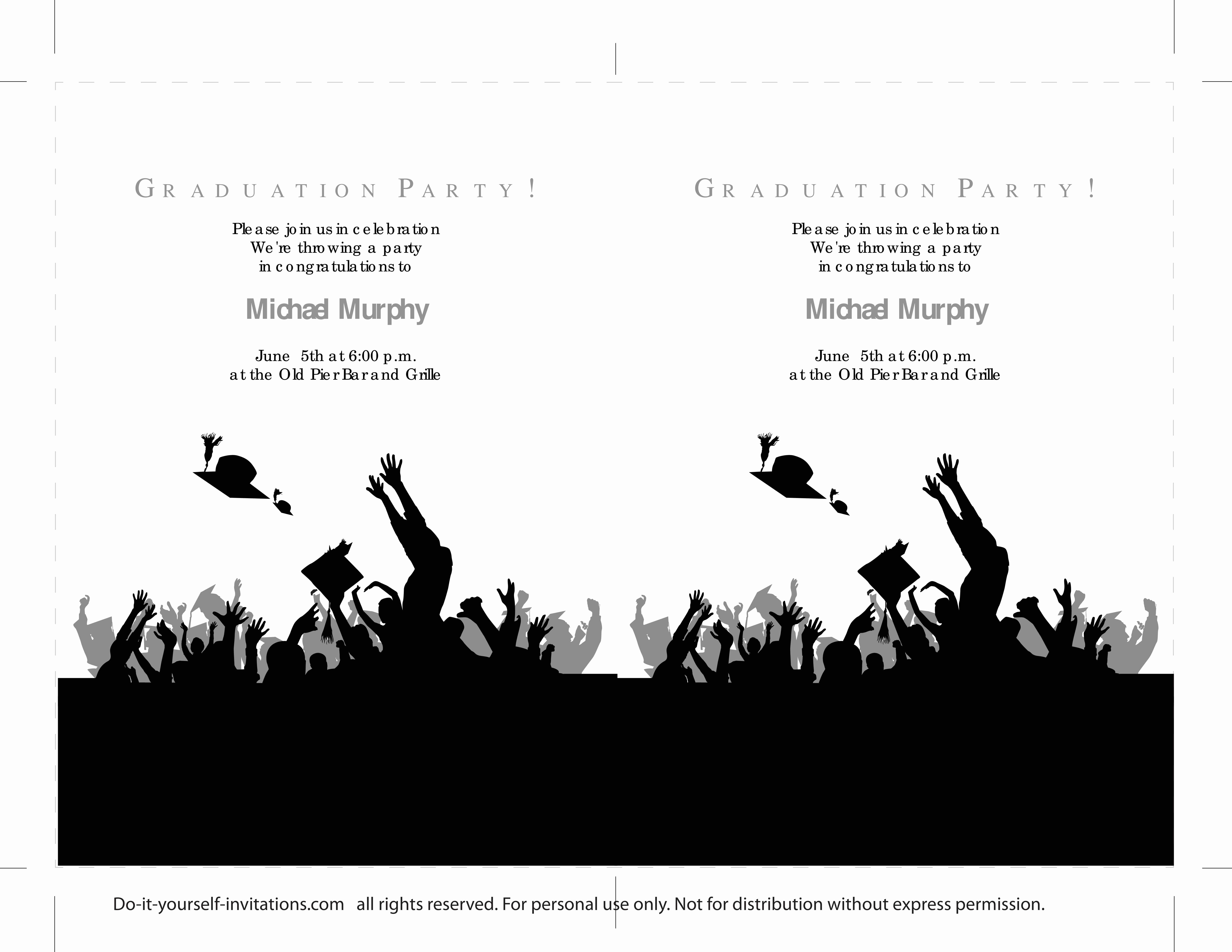Free Printable Graduation Announcements Inspirational 40 Free Graduation Invitation Templates Template Lab