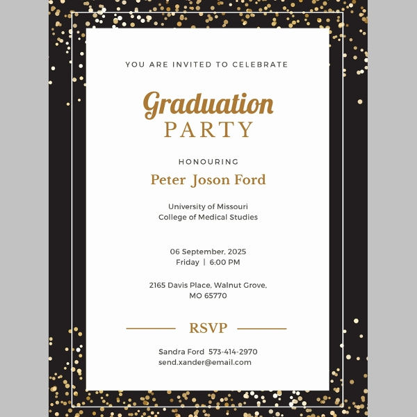 Free Printable Graduation Announcements Unique 38 Printable Graduation Invitations Psd Ai