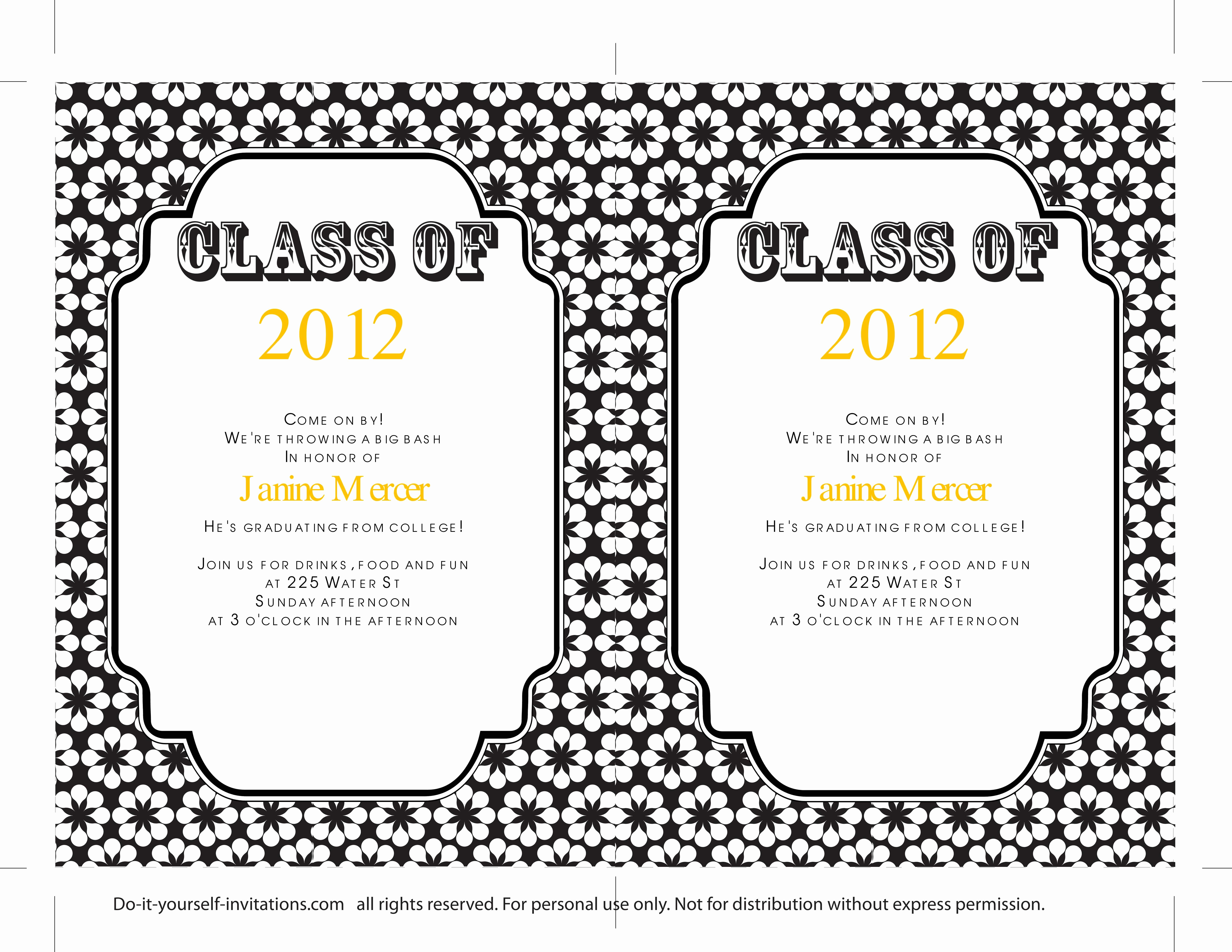 Free Printable Graduation Announcements Unique 40 Free Graduation Invitation Templates Template Lab