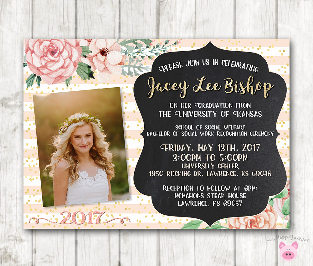 Free Printable Graduation Announcements Unique Printable Graduation Invitations Floral Graduation Invites