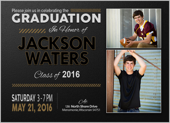 Free Printable Graduation Invitations Awesome 25 Graduation Invitation Templates Psd Vector Eps Ai