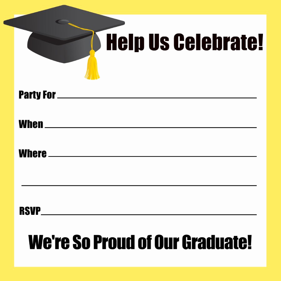 Free Printable Graduation Invitations Beautiful 40 Free Graduation Invitation Templates Template Lab