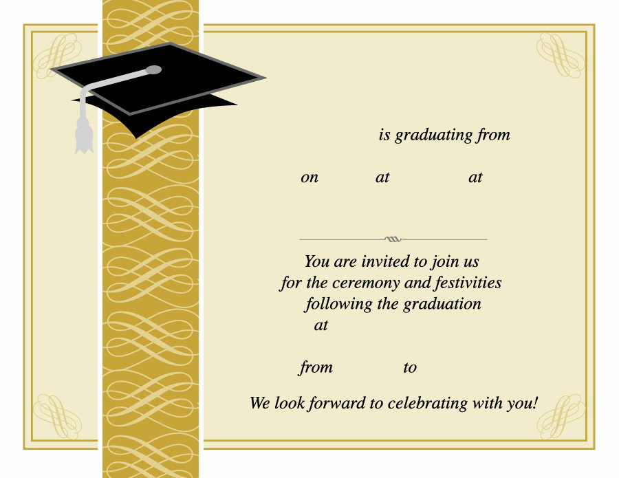 Free Printable Graduation Invitations Best Of 40 Free Graduation Invitation Templates Template Lab