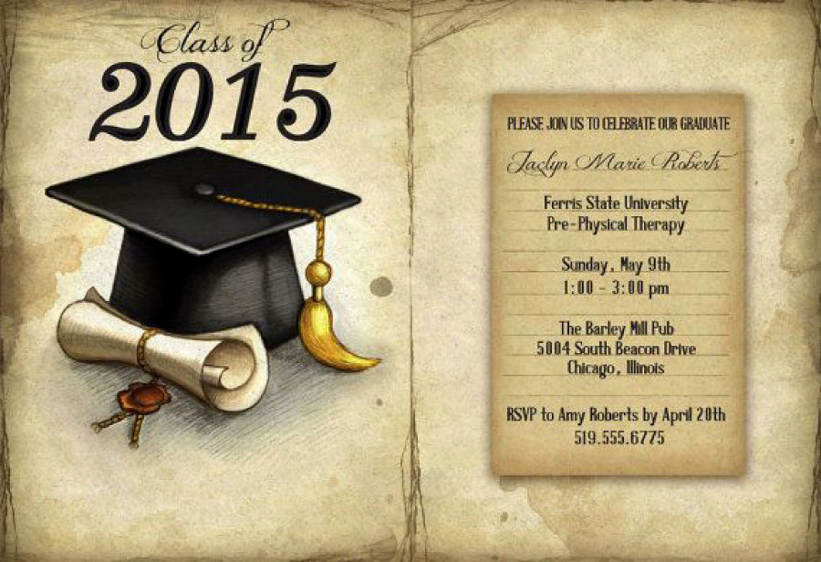 Free Printable Graduation Invitations Elegant 40 Free Graduation Invitation Templates Template Lab