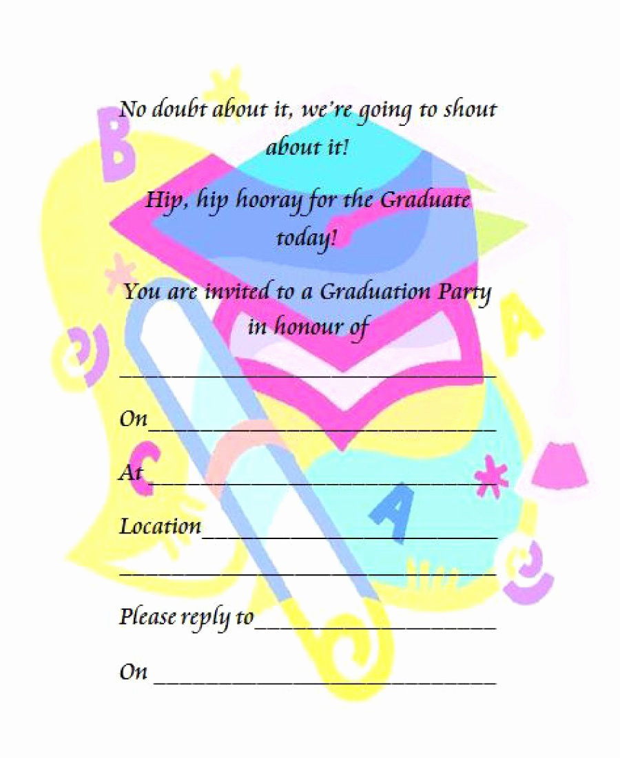 Free Printable Graduation Invitations Fresh 40 Free Graduation Invitation Templates Template Lab