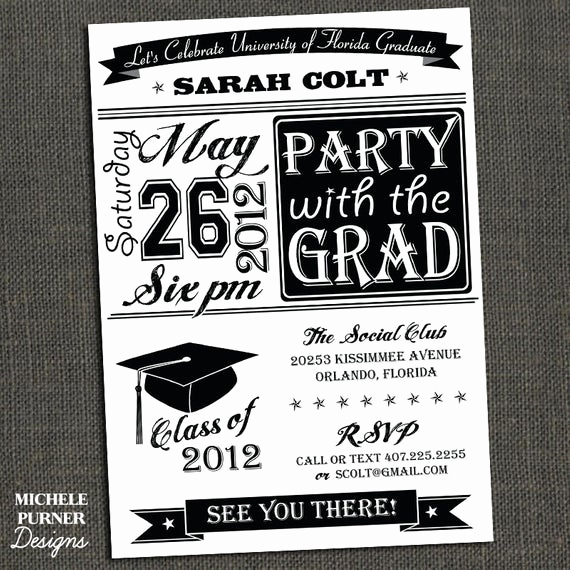 Free Printable Graduation Invitations Fresh Items Similar to High School or College Graduation Party
