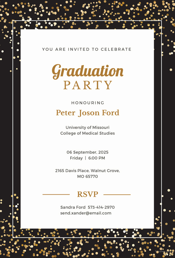 Free Printable Graduation Invitations Lovely 19 Graduation Invitation Templates Invitation Templates