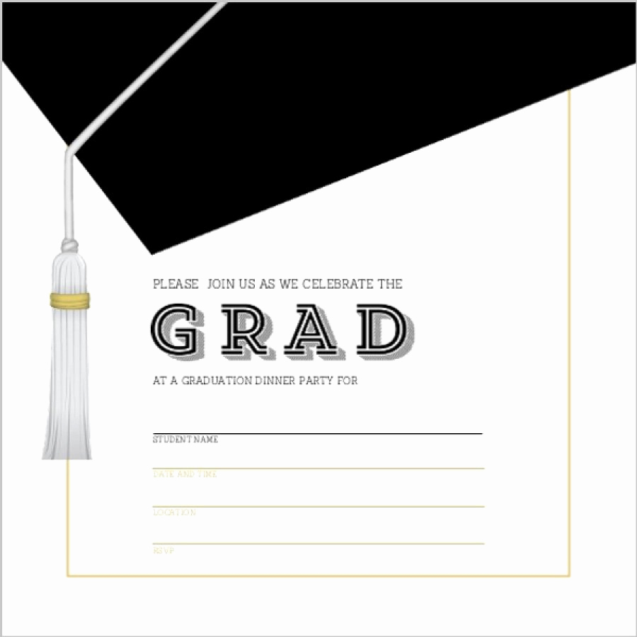 Free Printable Graduation Invitations Lovely 40 Free Graduation Invitation Templates Template Lab