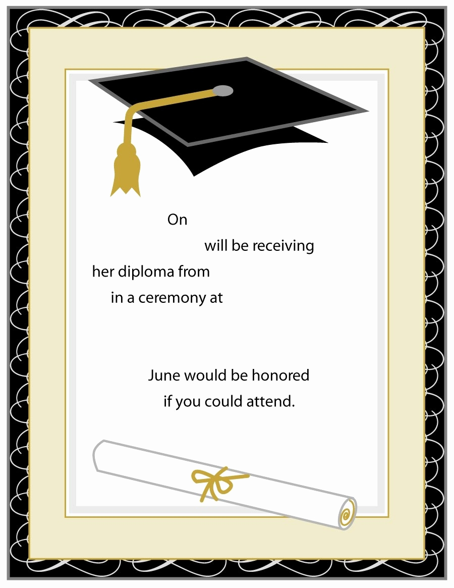 Free Printable Graduation Invitations Lovely Graduation Invitation Templates Beepmunk