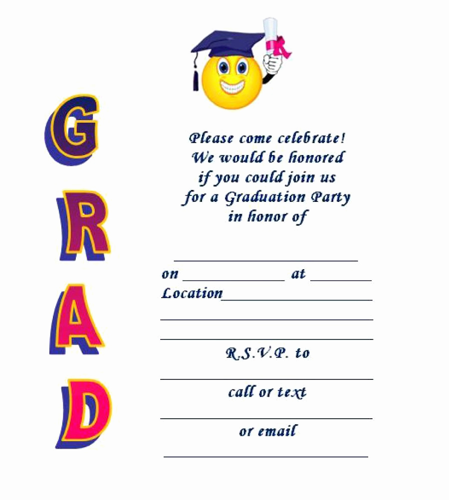 Free Printable Graduation Invitations New 40 Free Graduation Invitation Templates Template Lab