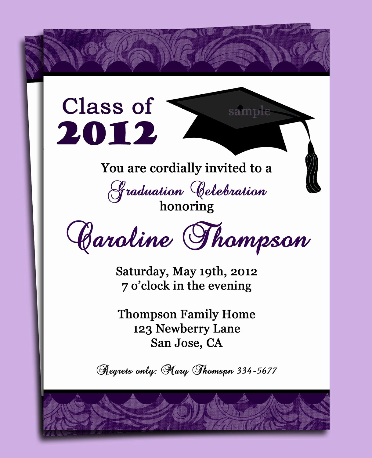 Free Printable Graduation Invitations Unique Graduation Party or Announcement Invitation Printable or