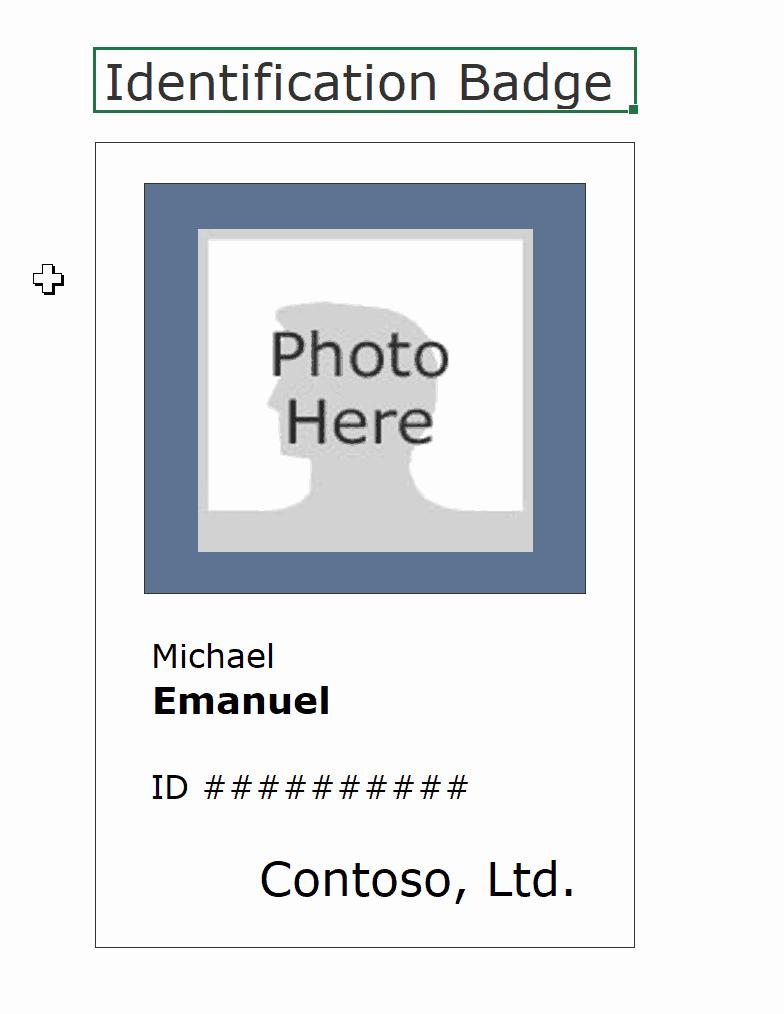 id badge card templates