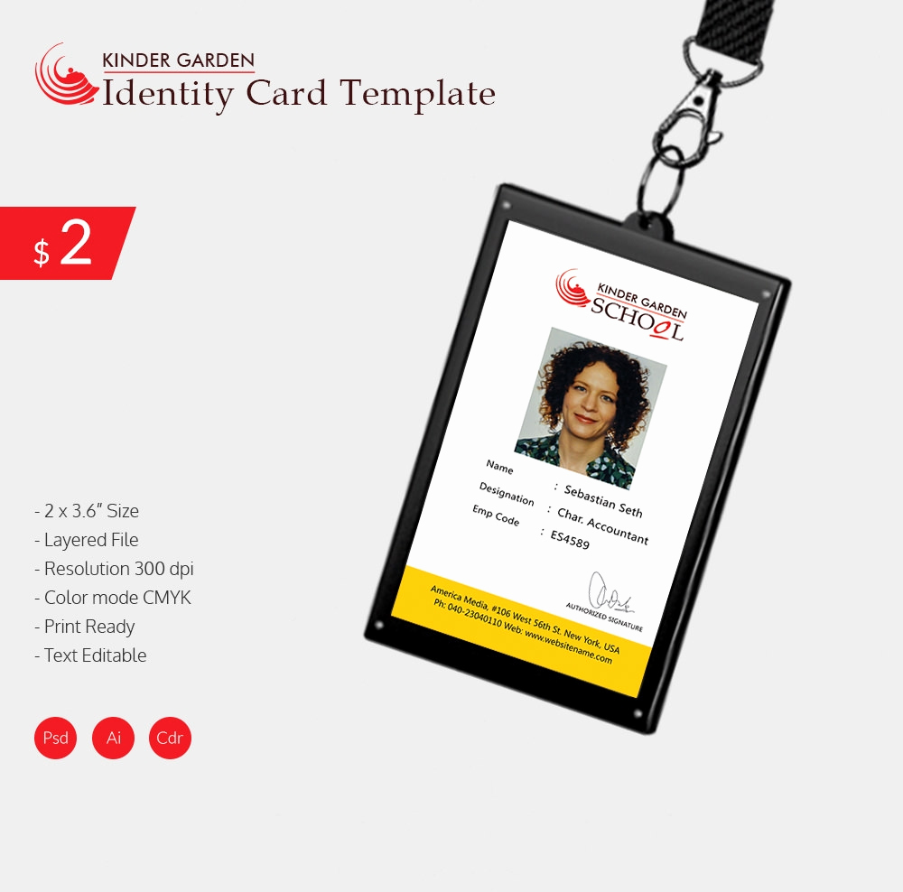 Free Printable Id Cards Templates Inspirational 18 Id Card Templates – Free Psd Documents Download