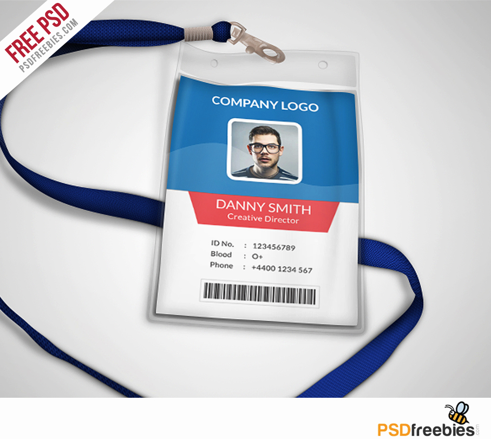 Free Printable Id Cards Templates Inspirational Multipurpose Pany Id Card Free Psd Template