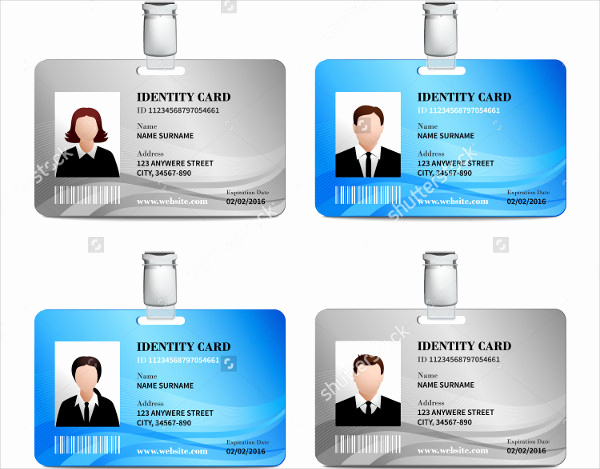 Free Printable Id Cards Templates Luxury 32 Id Card Templates Word Psd Ai Pages