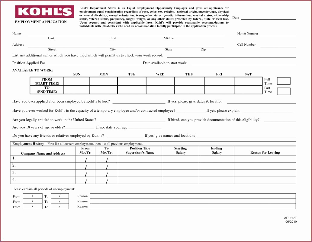 Free Printable Job Application Luxury Printable Job Applications