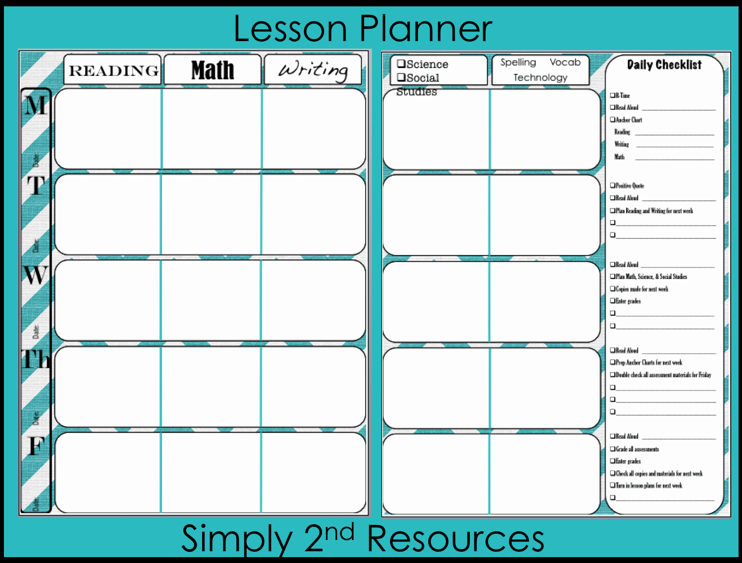 Free Printable Lesson Plan Template Elegant Simply 2nd Resources Lesson Plan Template so Excited to