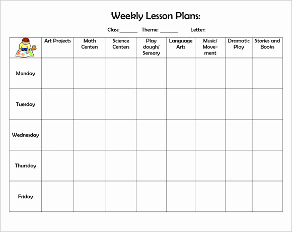 Free Printable Lesson Plan Template Inspirational Sample Weekly Lesson Plan 8 Documents In Pdf Word