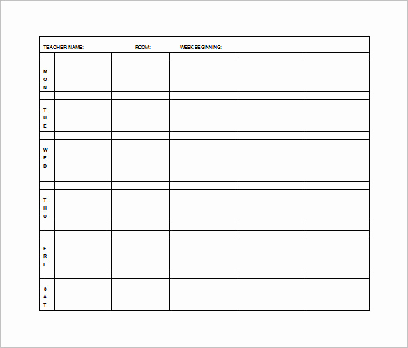 Free Printable Lesson Plan Template New Elementary Lesson Plan Template 11 Free Word Excel