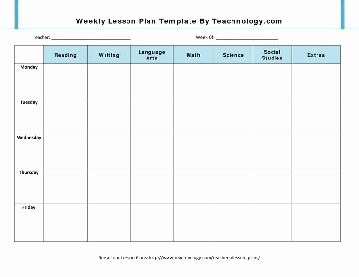 Free Printable Lesson Plan Template Unique Blank Lesson Plan Template