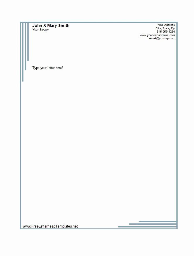 Free Printable Letterhead Templates Best Of 46 Free Letterhead Templates & Examples Free Template