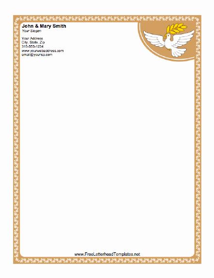 Free Printable Letterhead Templates Inspirational Dove Letterhead