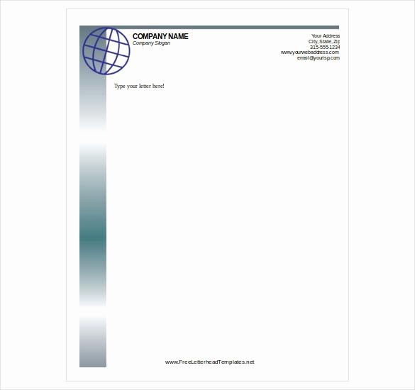 Free Printable Letterhead Templates Inspirational Free Letterhead Templates