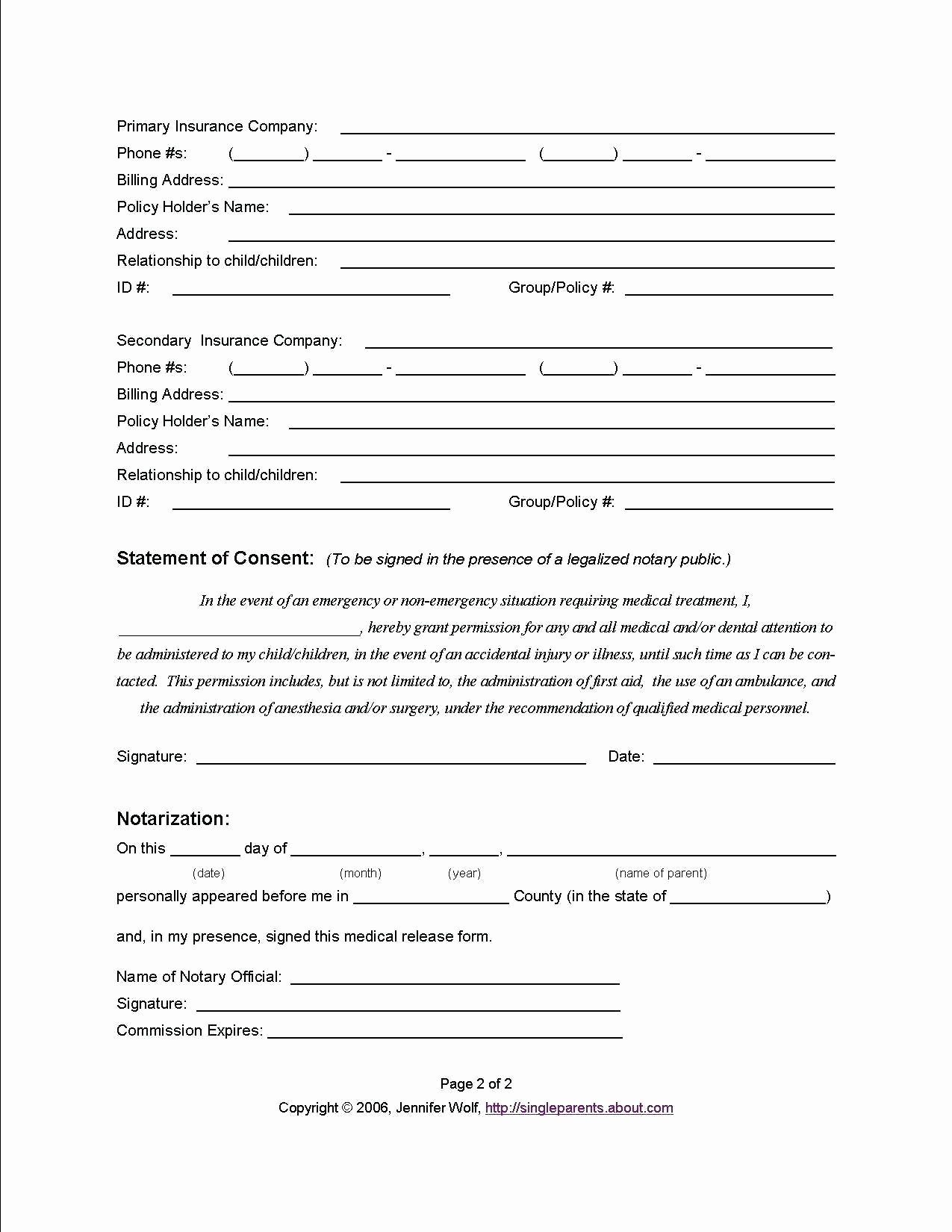 Free Printable Medical forms Fresh Free Printable Child Medical Consent form Letter Examples