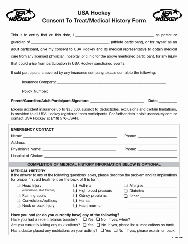 Free Printable Medical History forms New Medica Insurance Pany Provider Phone Number