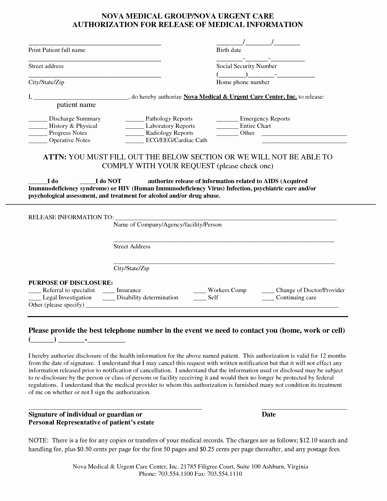 Free Printable Medical Release form Awesome 7 Best Of Printable Medical forms Car Accident