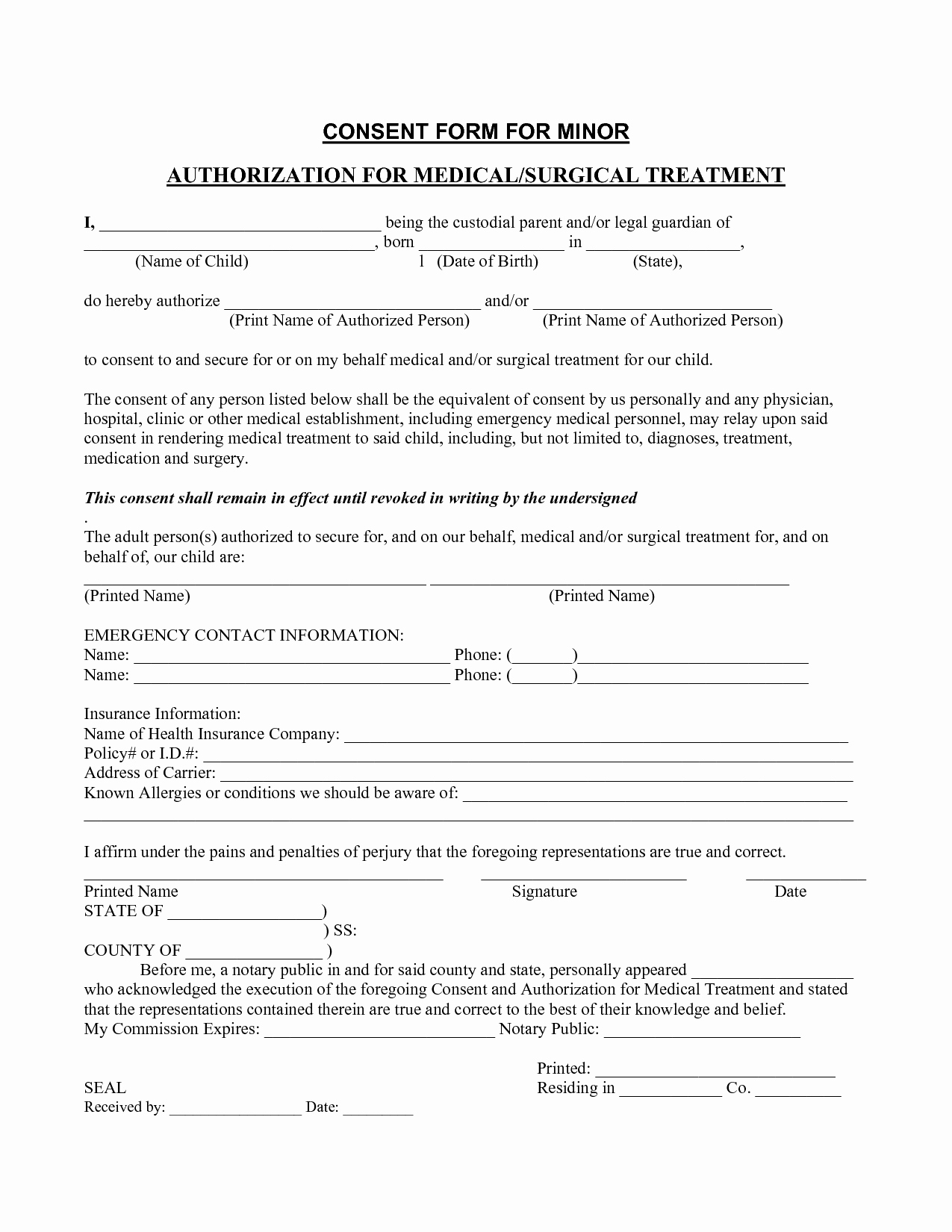 Free Printable Medical Release form Lovely Medical Consent form Template – Templates Free Printable
