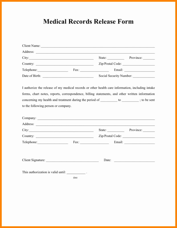 Free Printable Medical Release form Luxury Medical Release form