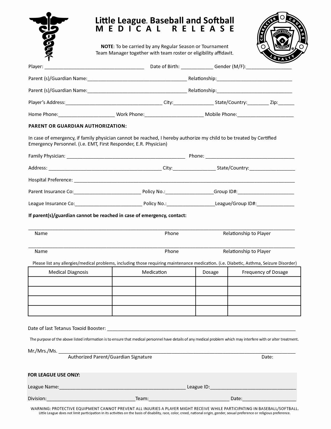 Free Printable Medical Release form New Free Printable Medical Release forms