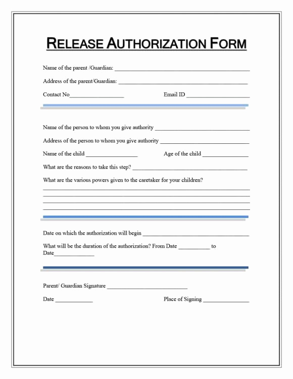 Free Printable Medical Release form New Medical Release form Template