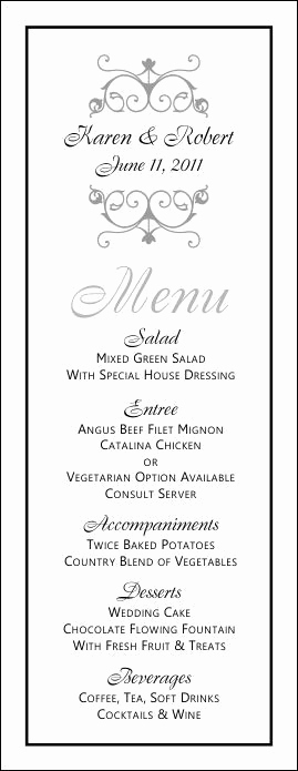 Free Printable Menu Template Best Of Free Printable Wedding Menus