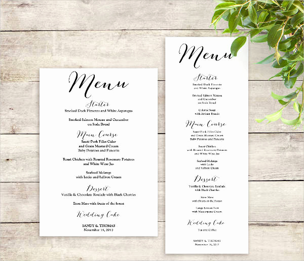 Free Printable Menu Template Elegant Printable Menu Template 9 Free Psd Vector Ai Eps