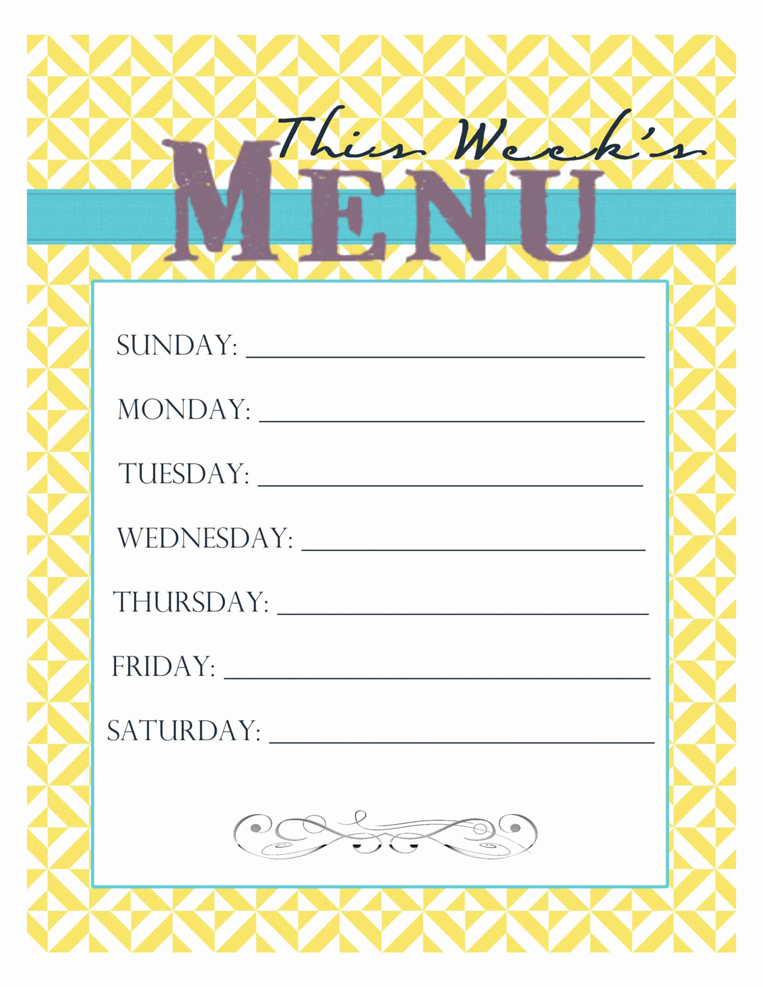 Free Printable Menu Template Inspirational Free Printable Menu Smitten Blog Designs