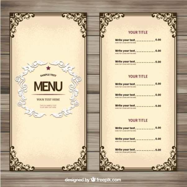 Free Printable Menu Templates Luxury 17 Best Ideas About Wedding Menu Template On Pinterest