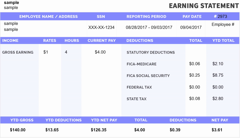 Free Printable Pay Stubs Online Lovely Make Free Paystubs