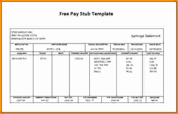 Free Printable Pay Stubs Online New Free Printable Check Stubs