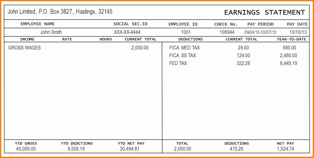 Free Printable Paycheck Stubs Awesome Free Check Stub Template Printables