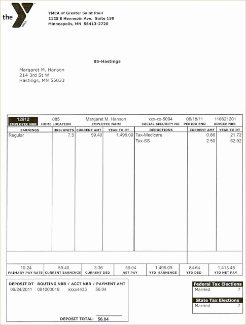 Free Printable Paycheck Stubs Beautiful Free Printable Word Pay Stub Template