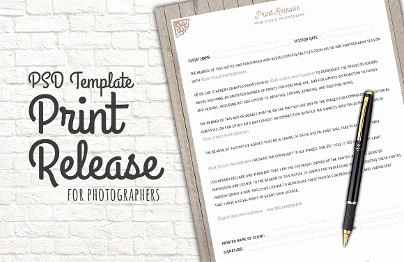 Free Printable Photo Release form Best Of Print Release form Template Templates Creative