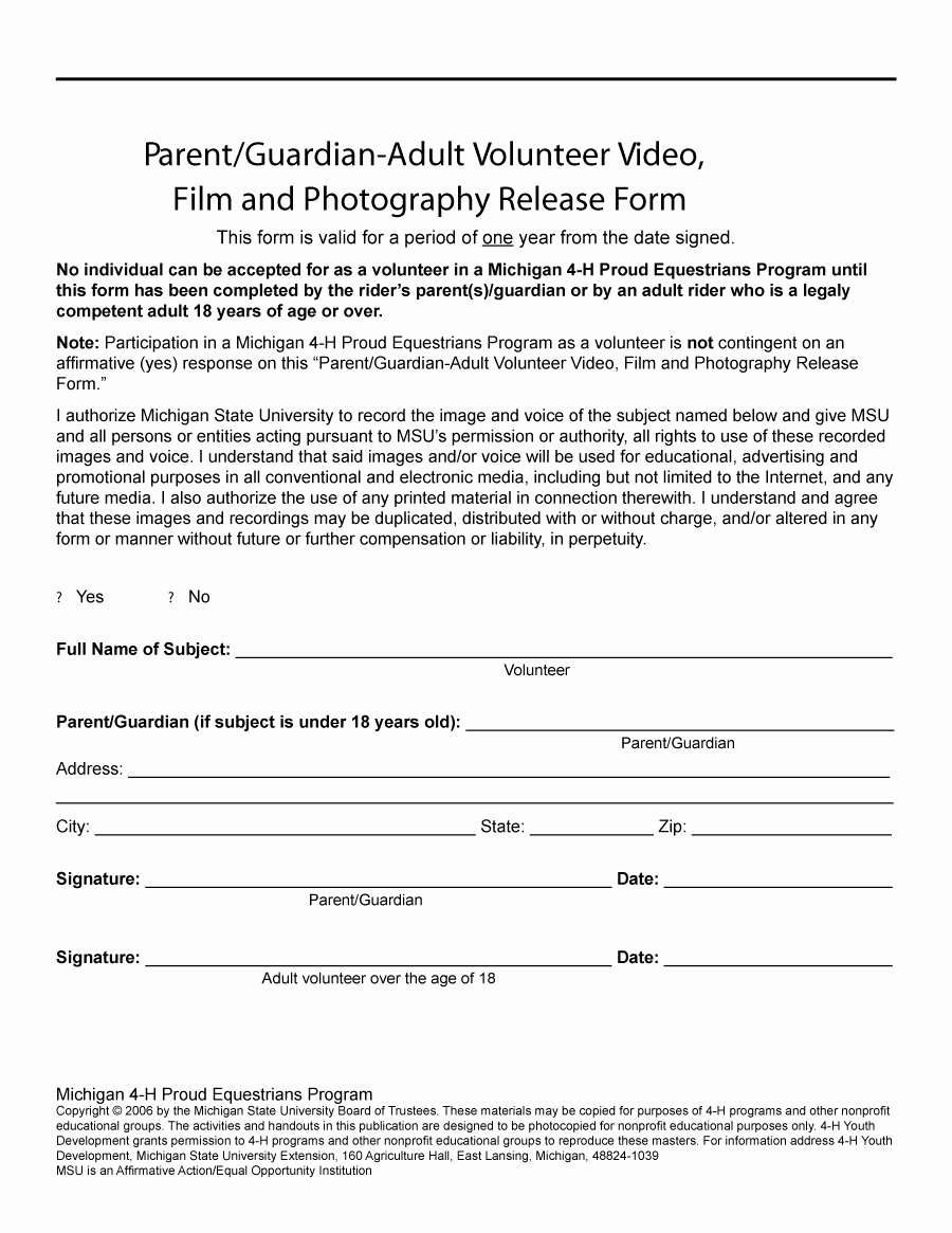 Free Printable Photo Release form Inspirational 53 Free Release form Templates [word Pdf]