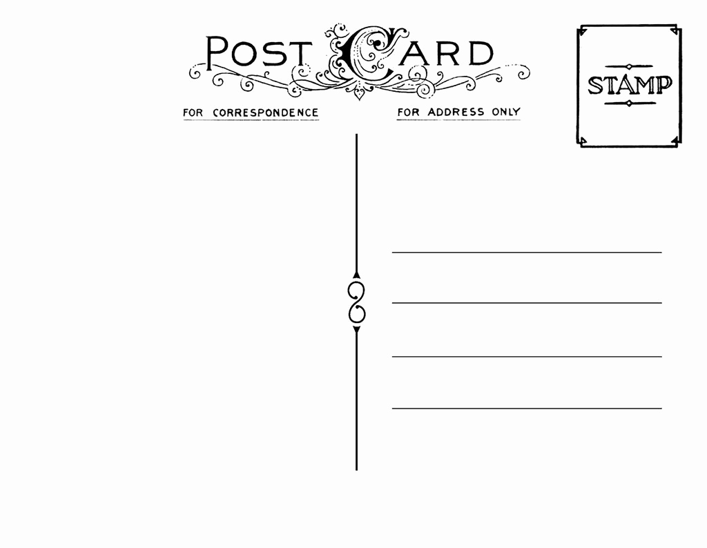 Free Printable Postcard Template Beautiful Diy Postcard Save the Date Back